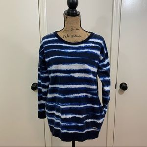 Michael Kors Blue & White Tie Dye Sweatshirt | M